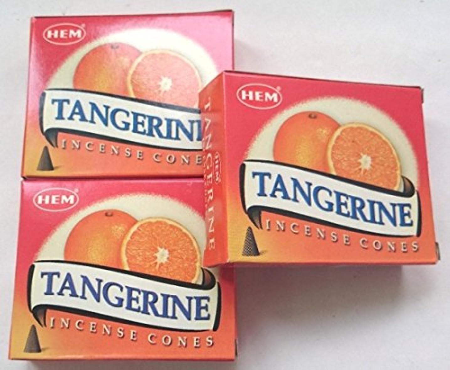 擬人化提供するアパートHEM(ヘム)お香 タンジェリン(オレンジ) コーン 3個セット