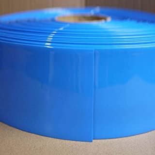 Blue Φ102mm Battery Sleeve Shrink Wrap PVC Heat Shrink Tubing Flat Width 160mm x 1M