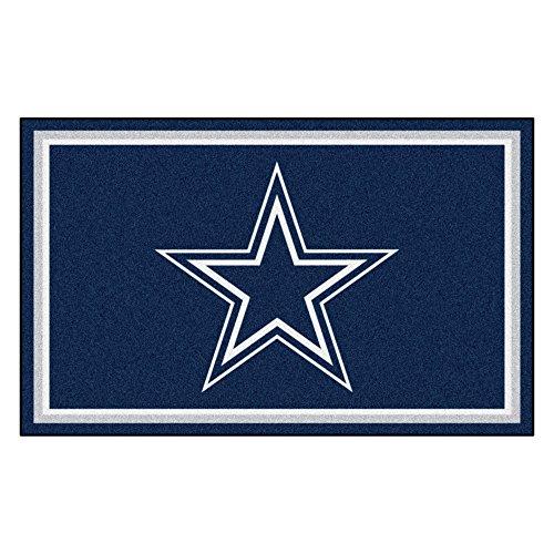 FANMATS NFL Dallas Cowboys Nylon Face 4X6 Plush Rug