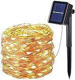 OxyLED Guirnalda Luces Exterior Solar, 10M 100 LED Guirnalda de...