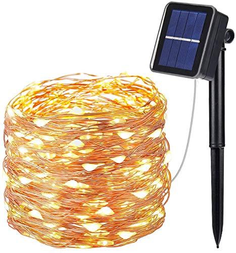 Catene Luminosa Solare Esterno,10M 100 LED Luci Solari Esterno