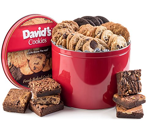 David's Cookies and Brownie Family Pack - 5 Lb. Gift Tin