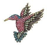 PLUS PO Spille Vintage Spille per Zaino Spilla Elegante Sciarpe per Le Donne Spille d'Epoca per Le Donne Uccello Spilla Spilla di Strass Spille da Donna