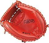 ZETT(ゼット) 少年野球 軟式 キャッチャーミット グランドヒーロー 右投げ用 レッド(6400) BJCB72012