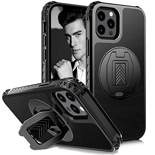 """Skycase Designed for iPhone 12 (2020) Case, Designed for iPhone 12 Pro (2020) Case with [360 Degrees Rotating Kickstand], Shockproof Protective Cover for iPhone 12/12 Pro 6.1"""""""