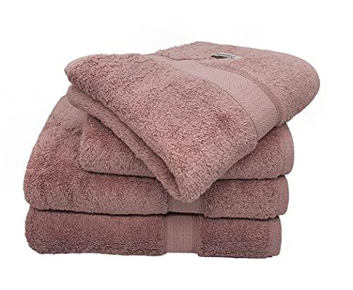 Bademayer Fusselfreis - Juego de 4 toallas de ducha (100% algodón egipcio...