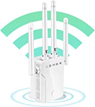 WiFi Extender, WiFi Booster Repeater, Cover Up to 2500 sq.ft and 30 Devices, 1200Mbps Wireless Repeater, 2 Ethernet Port &...