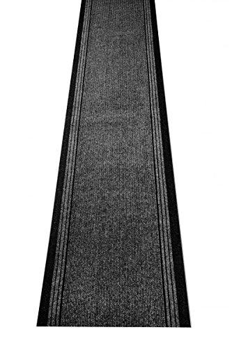 havatex Schmutzfang Läufer Kongo - und schadstoffgeprüft | pflegeleicht schmutzresistent robust und strapazierfähig | Flur Diele Eingang Küche Küchenteppich, Farbe:Anthrazit, Größe:80 x 300 cm