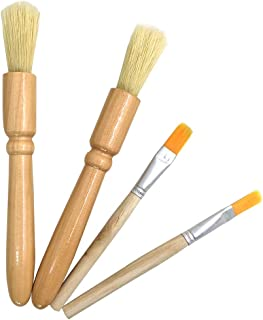 4 Packs Coffee Grinder Brush,DanziX Wooden Cleaning Brush for grinders and pasta makers-2 Size