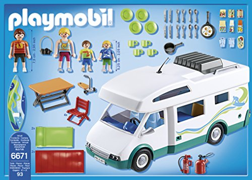 Auto Caravane Camping Playmobil pour la Famille - 6671 - 2