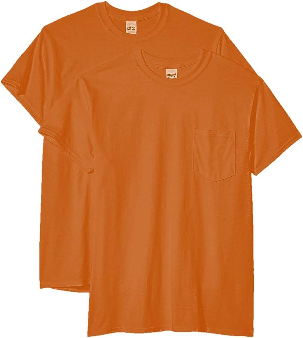 Gildan Men's Ultra Cotton Adult T-Shirt with Pocket, 2-Pack