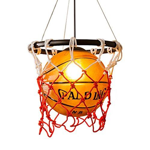 HJXDtech - Basketball Pendelleuchte hängelampe pendelleuchte glaskugel glaskugel hängelampe Glaskugel-Hängelampe für Jungenschlafzimmer