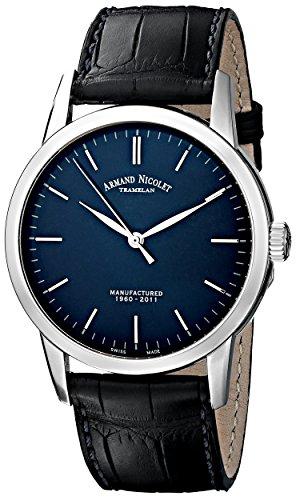 Armand Nicolet 9670A-BU-P670BU1 - Reloj, Correa de Cuero Color Azul