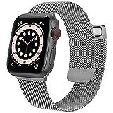 Wanme Correa Compatible con Apple Watch Correa 38mm 40mm 42mm 44mm, Pulsera de Repuesto de Metal de Acero Inoxidable para iWatch Series SE 6 5 4 3 2 1 (42mm/44mm Gris Espacial)