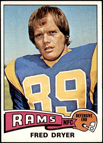 1975 Topps # 312 Fred Dryer Los Angeles Rams (Football Card) EX/MT Rams San Diego St