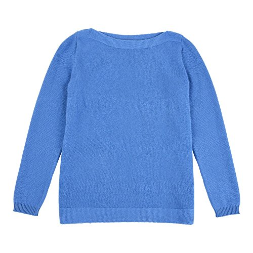LES POULETTES Jersey Cuello Barco 100% Cachemira Azul