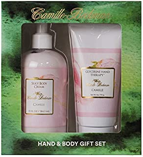 Camille Beckman Hand and Body Duet Set, Silky Body and Glycerine Hand Cream, Camille