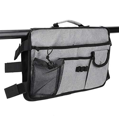 Bolsa colgante de almacenamiento, bolsa de tela Oxford para silla de ruedas, bolsillos, bolsa colgante de gran capacidad, organizador de almacenamiento, gris