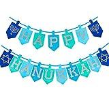 Happy Storm Happy Hanukkah Banner Glitter Chanukkah Party Banner Favors Hanukkah Party Decorations for Hanukkah Party Supplies