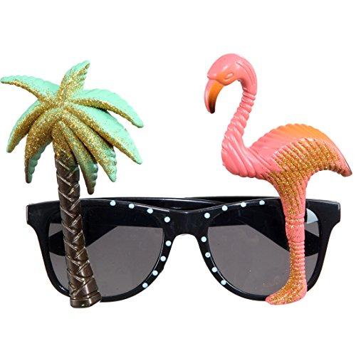 Amakando Spaßbrille Karibik lustige Brille Beachparty Sonnenbrille Mallorca Spaßbrille Strandparty Scherzbrille Südsee Partybrille Hawaii