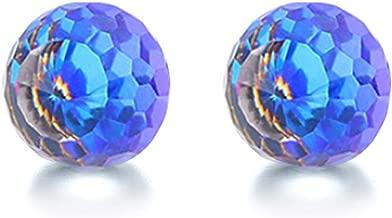 Chryssa youree Women's Aurora Crystals from Swarovski Silver Crystal Stud stainless steel Earrings (ED-109)