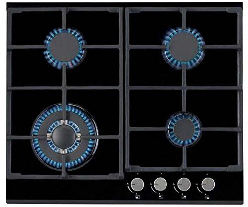 Jocel Placa a Gas Encastrable de Cristal JP4GV011091, 4 quemadores, Ignición automática