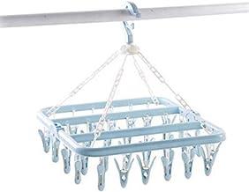 High quality 32 Pegs Washing Laundry Dryer Socks Hanger Underwear Multifunctional Hanging Rack Folding Flexible In/outdoor...