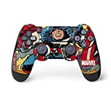 Skinit Decal Gaming Skin for PS4 Controller - Officially Licensed Marvel/Disney Marvel Comics Captain America Design