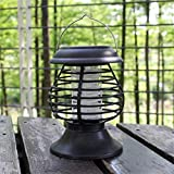DDLmax Solar Mosquito Zapper - Waterproof Solar Powered LED Light Pest Bug Zapper