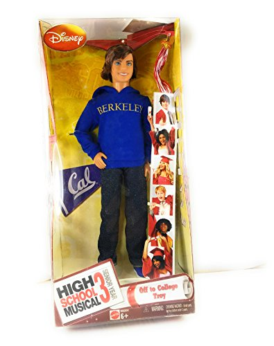 High School Musical 3 Senior Year Doll Off To College Troy
