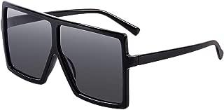 Square Oversized Sunglasses for Women Flat Top Gradient Shades Fashion Female Big Frame UV400