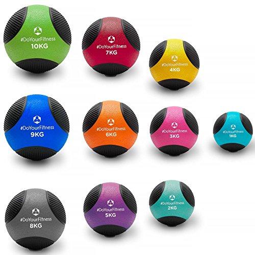 Medizinball »Medicus« / 1-10kg / Fitnessball/Gewichtsball/leichte bis sehr schwere Gymnastikbälle in Studio-Qualität 5kg / lila
