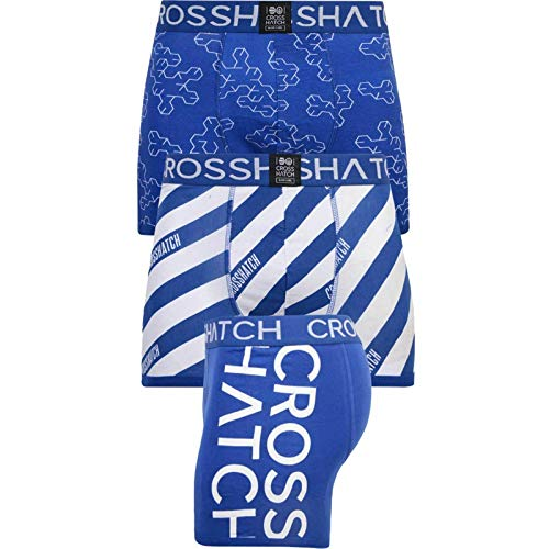 CrossHatch Boxer Shorts Men Boxers Multipack Gift Set Mens Underpant(XL,Blue)