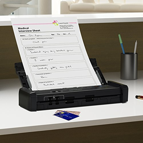 Epson WorkForce ES-200 Colour Portable Document Scanner with ADF for PC and Mac, Sheet-fed and Duplex Scanning