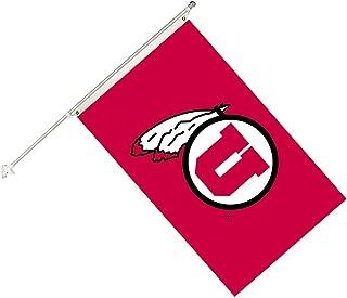 Seasonal Designs NCAA Utah Utes Collegiate Helmet Flag Kit, Black, Size 3 x 5