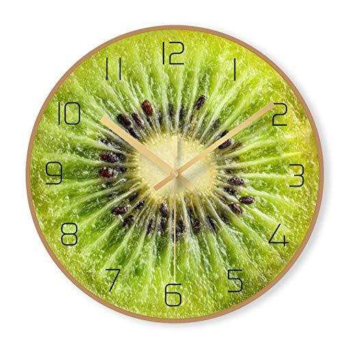 N/ A Dibujos Animados Mudo Reloj de Pared Cocina Mesa Grande Pared...