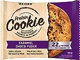 Weider Protein Cookies Caramel Choco Fudge 12 x 90 g. Galleta de proteínas 100% vegana