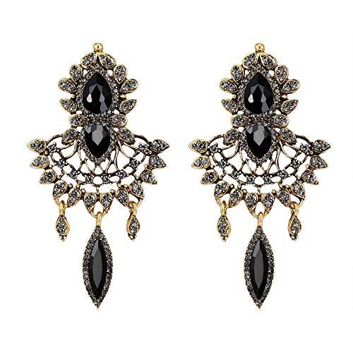 Andouy Mode Zirkon Ohrringe Diamantbesetzter Liebesherzohrring für Mädchen(O)