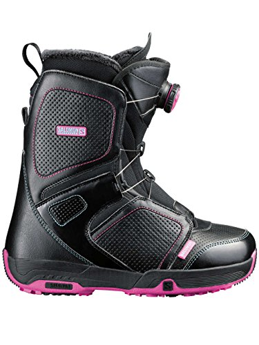 SALOMON–Botas para Snowboard, Color Negro - Negro, tamaño 23.0