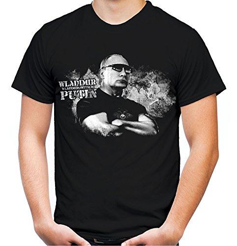 Putin Männer und Herren T-Shirt | Wladimir Russland Moskau ||| M2 (XL, Schwarz)