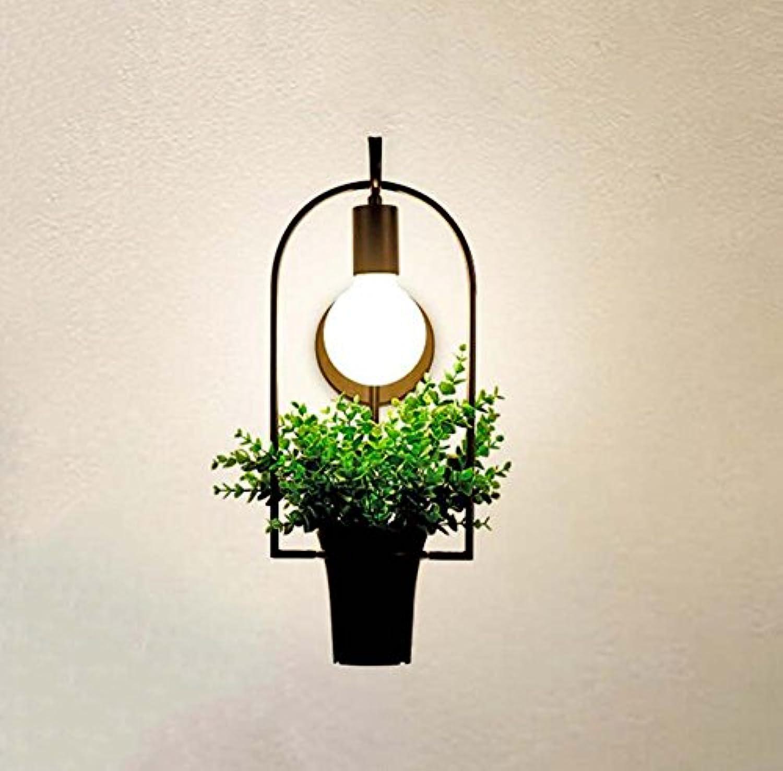 Nordic Moderne Minimalistische Wandleuchte Garten Wohnzimmer Schlafzimmer Kinderzimmer Persnlichkeit Kreative Pflanze Wandleuchte Nachtspiegel Vordere Wandleuchte YDYG