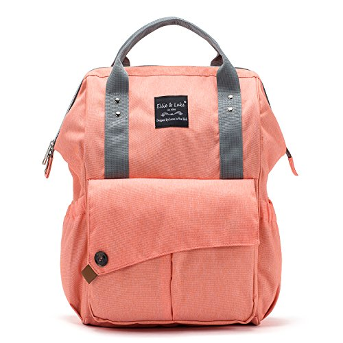 SoHo NoLita Diaper Bag Backback 3Pc - Coral