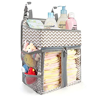BAGLHER Hanging Diaper Organizer,Baby Diaper Organizer is Suitable for Hanging on Diaper Table,Nursery, and All Cribs.Baby Supplies Storage Diaper Rack,Diaper Stacker.Baby Shower Gifts