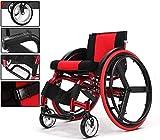 Toda la ayuda del reposapiés plegable Autopropulsada Ligera Tránsito Comfort sillas de ruedas (rojo) Autopropulsada Sillas de ruedas, silla de ruedas plegable, ligero Sillas de ruedas, silla de ruedas