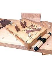 木工 バイス 万力 調整可 クランプ式 台上型 木工作業 万力 DIY 家庭用 業務用、無垢材 木工 作業台・工芸用作業台 ポータブル バイス、木材を固定して加工作業、んりき卓上 大型 クランプ