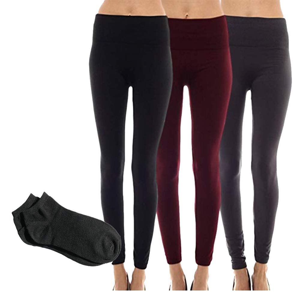 Sofra Classic Waisted Regular Leggings