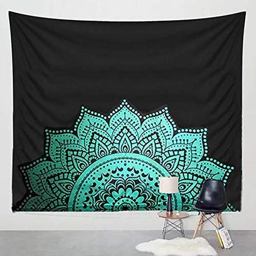 WERT Tapiz de Mandala Tapiz Bohemio decoración para Colgar en la Pared Alfombra de Playa Alfombra de Fondo Familiar Tapiz de Tela A2 100x150cm