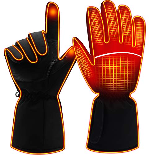 Heated Gloves for Men Women Electric Gloves Battery Heating Gloves Rechargeable L