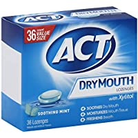 36 Count Act Dry Mouth Lozenges Soothing Mint