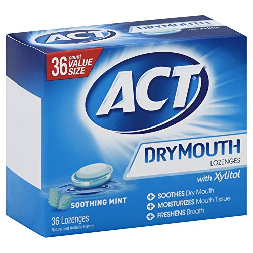 36-Counts ACT Dry Mouth Lozenges Soothing Mint -$3.80(76% Off)